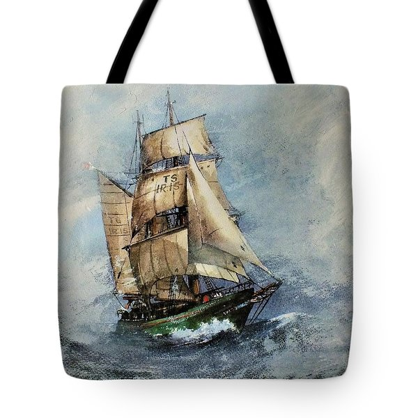 F 827 Asgard Storm Off Galway. Tote Bag