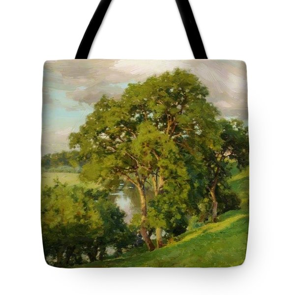 Ash Trees At Cropthorne Worcestershire Tote Bag