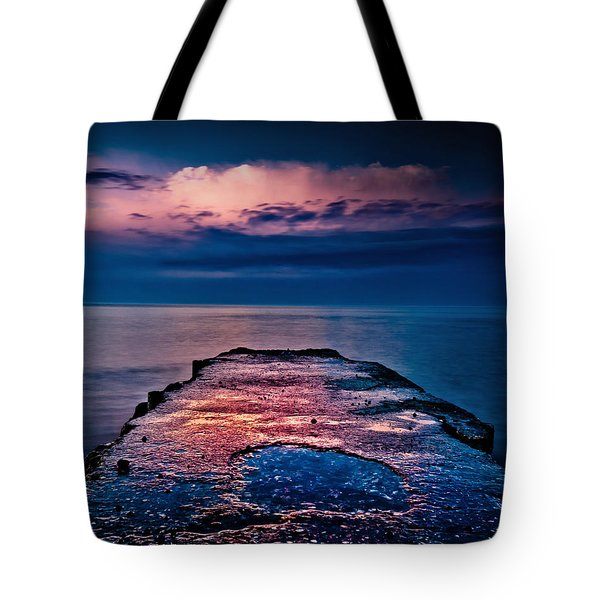 Tote Bag featuring the photograph Ashbridges Bay Toronto Canada Dock At Sunrise No 1 by Brian Carson