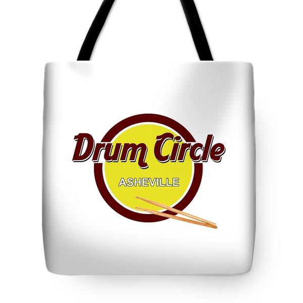 Asheville Drum Circle Logo Tote Bag