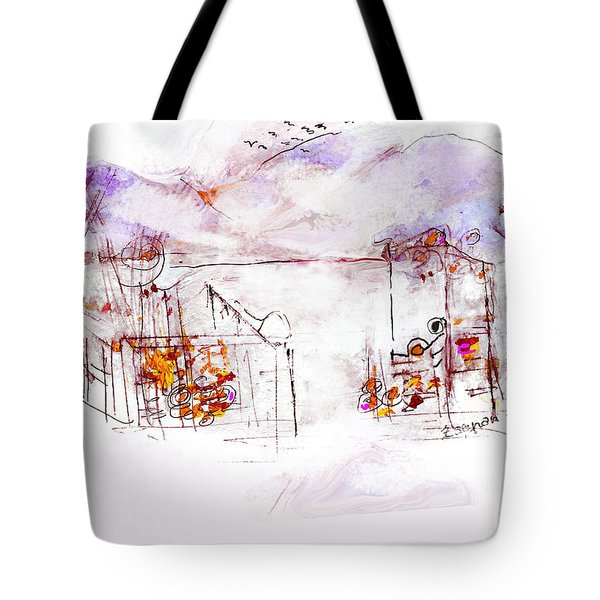 Asheville Mountains Old Friends And A Garden Bench   Tote Bag