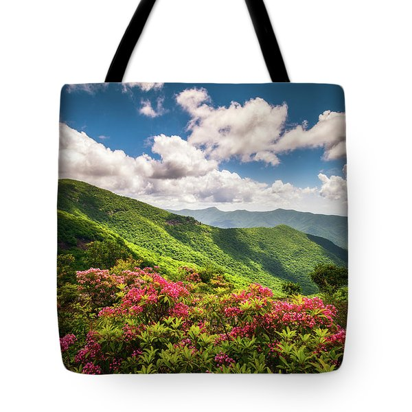 Asheville Nc Blue Ridge Parkway Spring Flowers Scenic Landscape Tote Bag