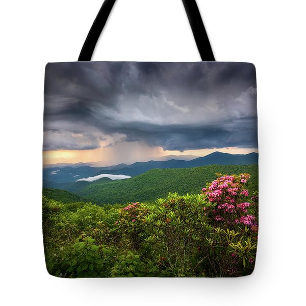 Asheville North Carolina Blue Ridge Parkway Thunderstorm Scenic Mountains Landscape Photography Tote Bag