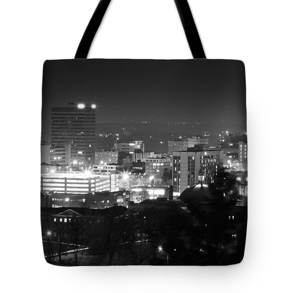 Asheville North Carolina Skyline Tote Bag