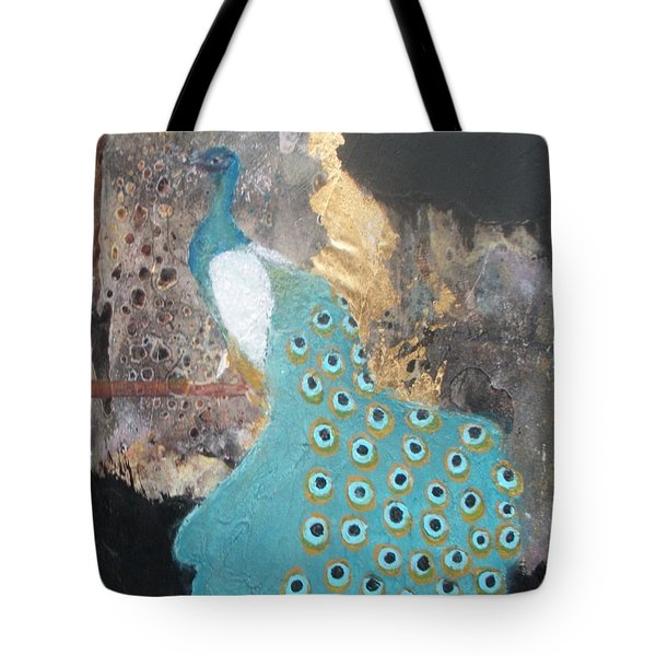 Ashley's Peacock Tote Bag by Andrea Friedell
