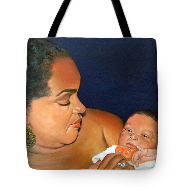 Tote Bag featuring the painting Ashli And Middleton by Marlene Book