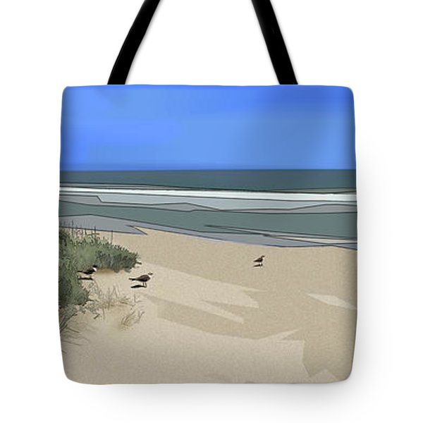 Tote Bag featuring the digital art Ashore by Gina Harrison
