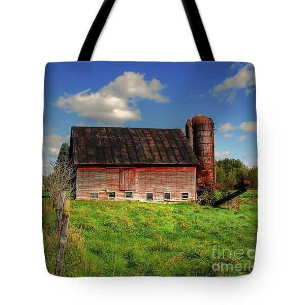 Ashtabula County Barn Tote Bag by Tony  Bazidlo
