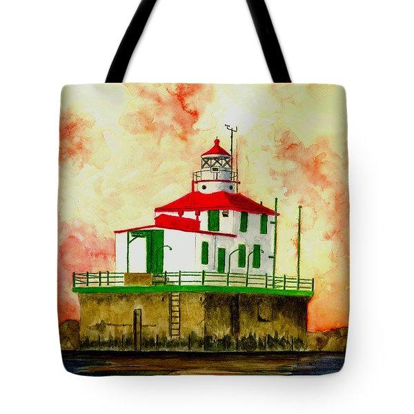 Ashtabula Lighthouse Tote Bag by Michael Vigliotti