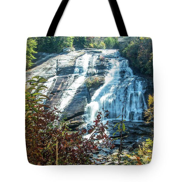 Tote Bag featuring the photograph Ashville Area Waterfall by Richard Goldman