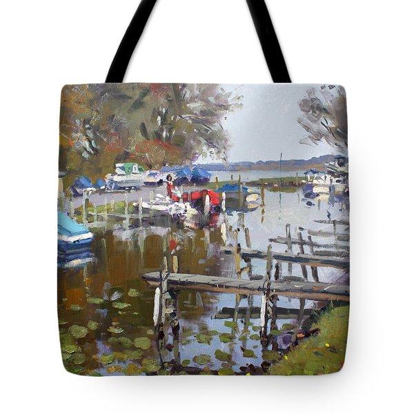 Ashville Bay Marina Tote Bag