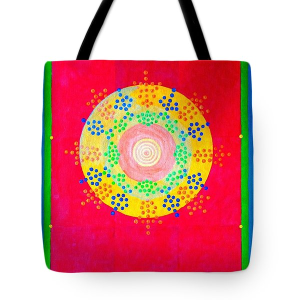 Tote Bag featuring the painting Asia Sun by Thomas Gronowski