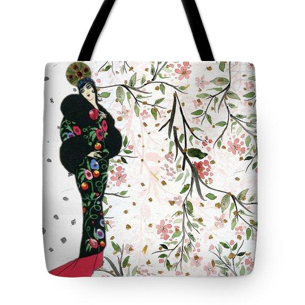 Asian Art Deco Beauty Tote Bag
