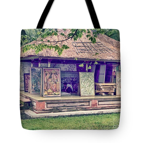 Tote Bag featuring the photograph Asian Artist by Charles McKelroy