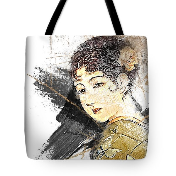 Asian Beauty Tote Bag