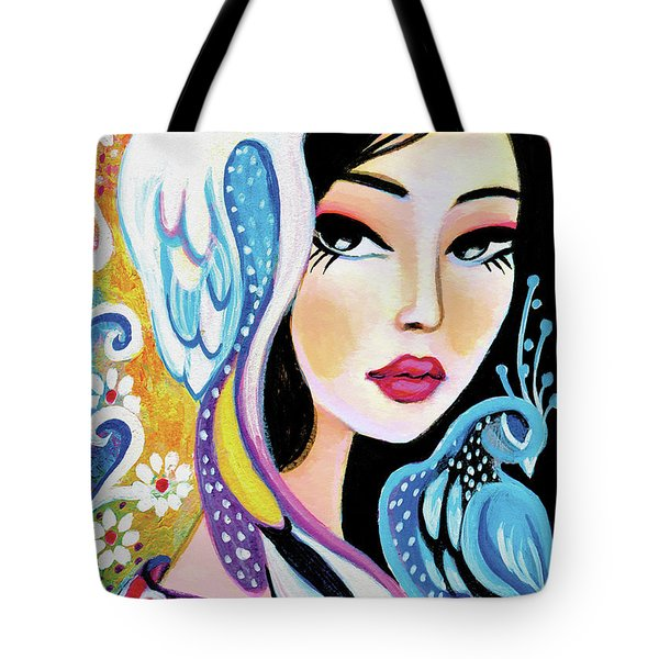 Asian Bird Tote Bag