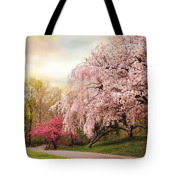 Asian Cherry Grove Tote Bag by Jessica Jenney