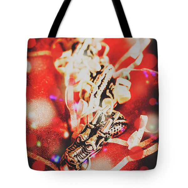 Asian Dragon Festival Tote Bag