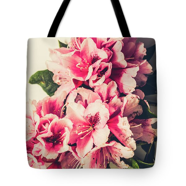 Asian Floral Rhododendron Flowers Tote Bag