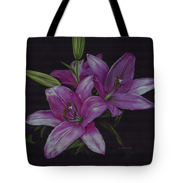 Asian Lillies Tote Bag