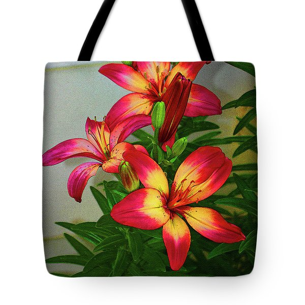 Asian Lilly Spring Time Tote Bag