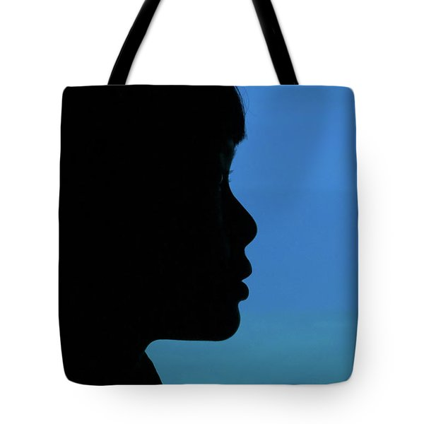 Mystery Woman Tote Bag by John Janicki