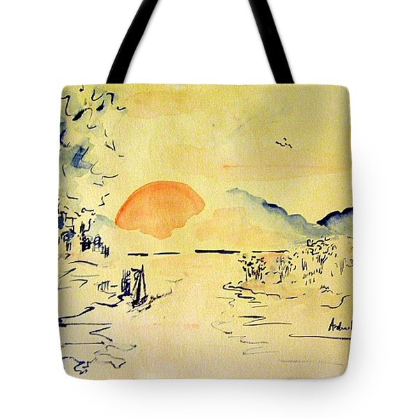 Asian Sunrise Tote Bag by Andrew Gillette