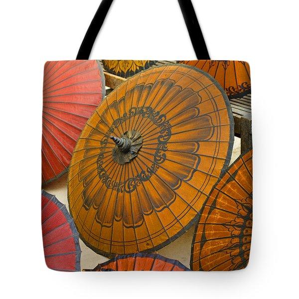 Asian Umbrellas Tote Bag