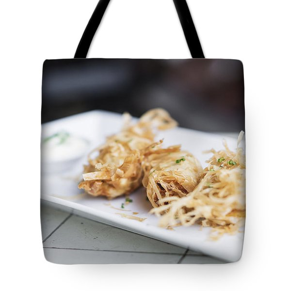 Asian Vegetable Fried Spring Rolls Tote Bag