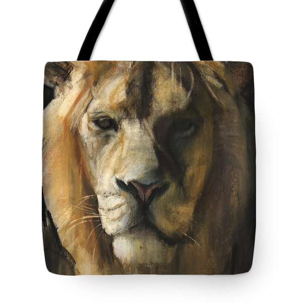 Asiatic Lion Tote Bag by Mark Adlington