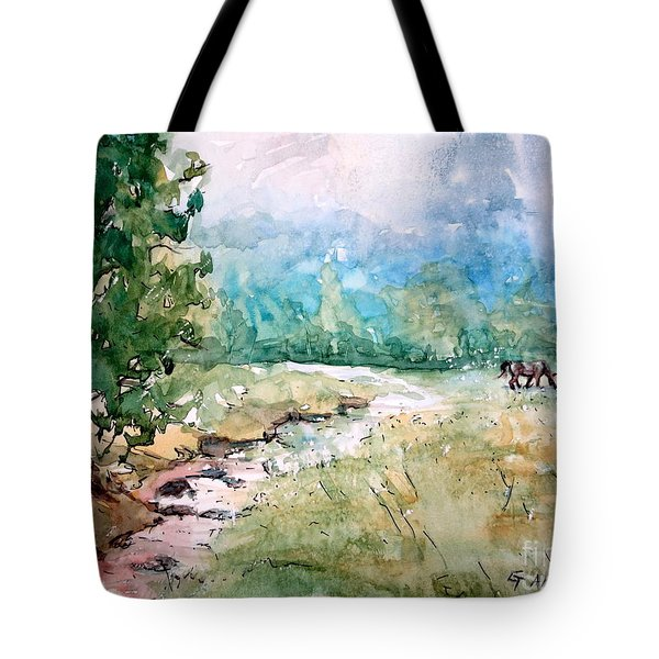 Aska Farm Creek Tote Bag by Gretchen Allen
