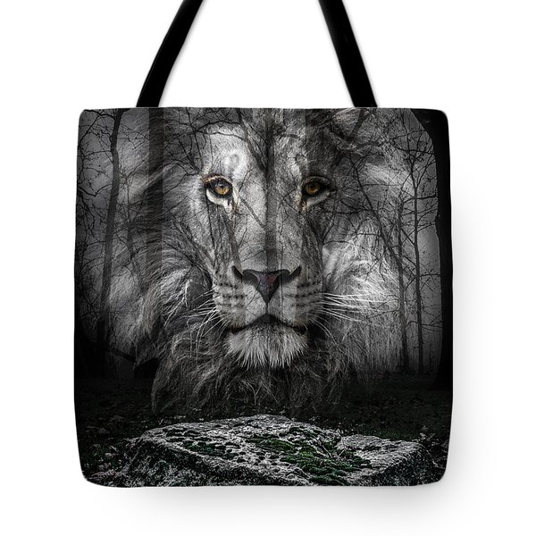 Aslan And The Stone Table Tote Bag
