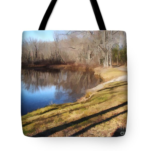 Aslant Tote Bag by Betsy Zimmerli