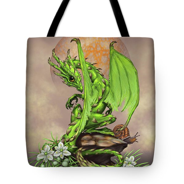 Tote Bag featuring the digital art Asparagus Dragon by Stanley Morrison