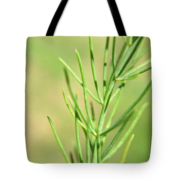 Tote Bag featuring the photograph Asparagus Frond Macro by Robyn Stacey