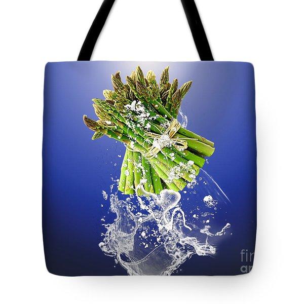 Asparagus Splash Tote Bag