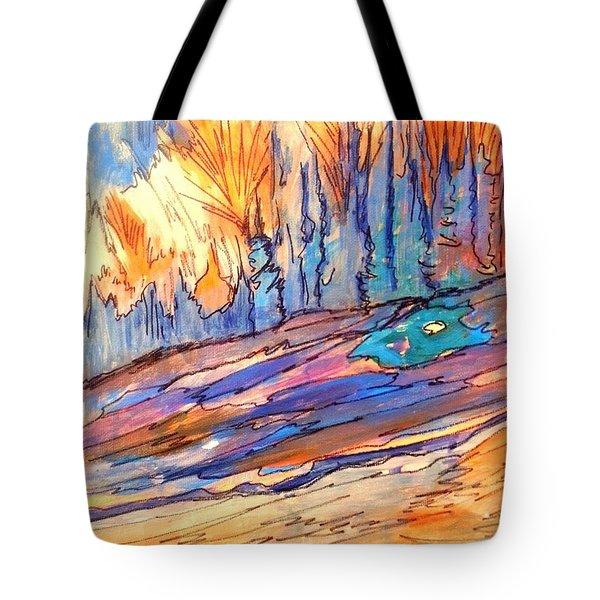 Aspen Abstract Tote Bag