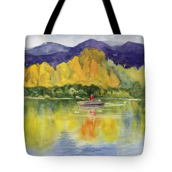 Tote Bag featuring the painting Aspen Afternoon by Kris Parins