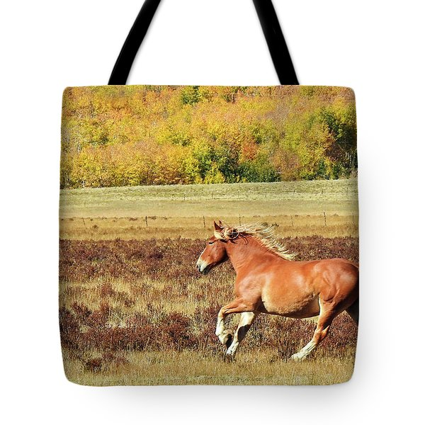 Aspen And Horsepower Tote Bag