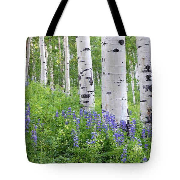 Aspen And Lupine Tote Bag