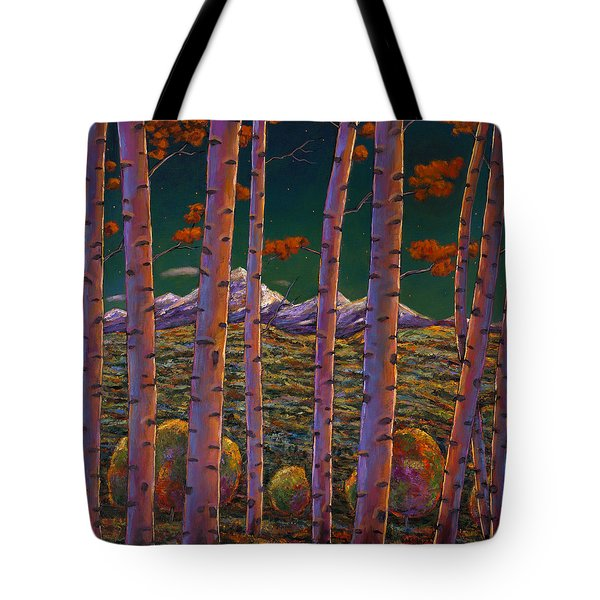 Aspen At Night Tote Bag