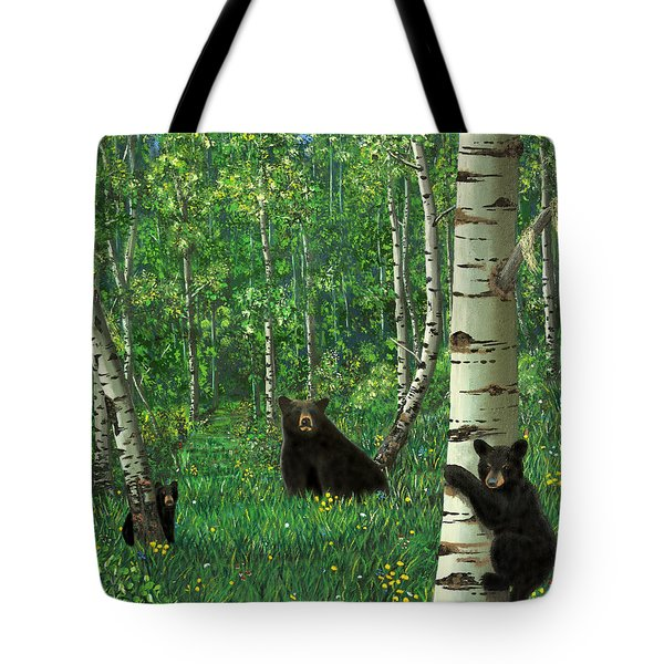Aspen Bear Nursery Tote Bag