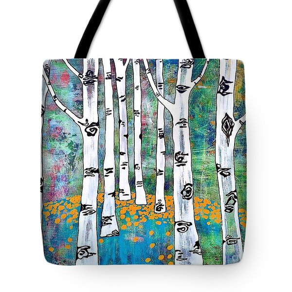Tote Bag featuring the painting Aspen Bright by Amy Sorrell