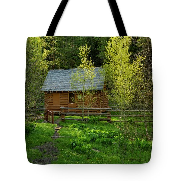 Aspen Cabin Tote Bag by Leland D Howard