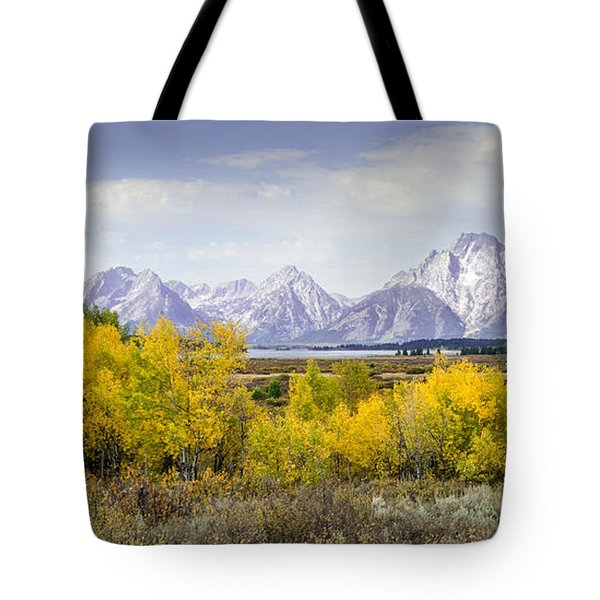 Aspen Gold In The Tetons Tote Bag