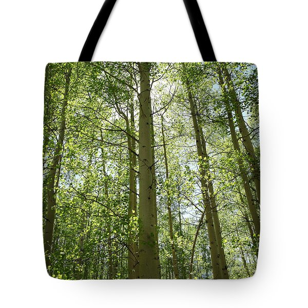 Aspen Green Tote Bag
