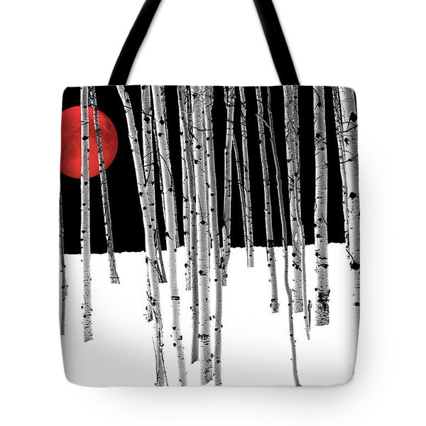 Tote Bag featuring the photograph Aspen Grove Winter by Juli Scalzi