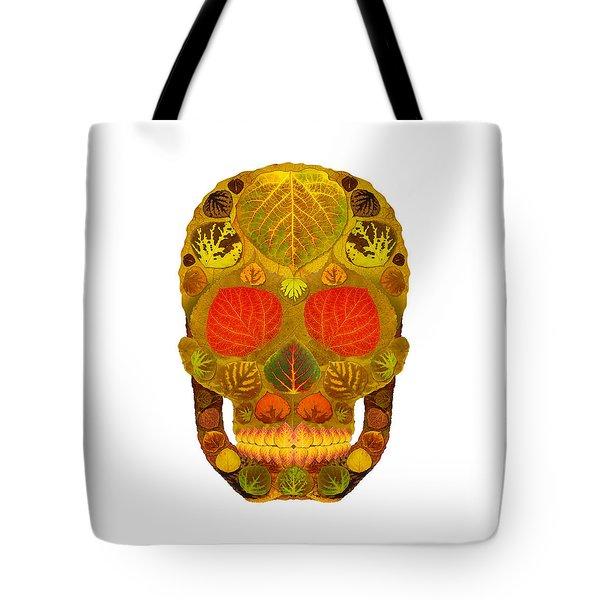 Aspen Leaf Skull 12 Tote Bag by Agustin Goba