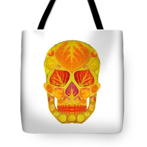 Aspen Leaf Skull 13 Tote Bag by Agustin Goba