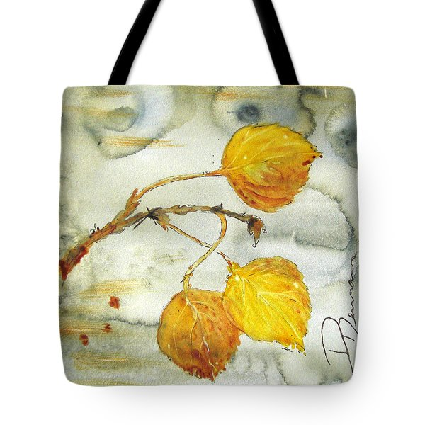 Aspen Leaves Tote Bag by Dawn Derman